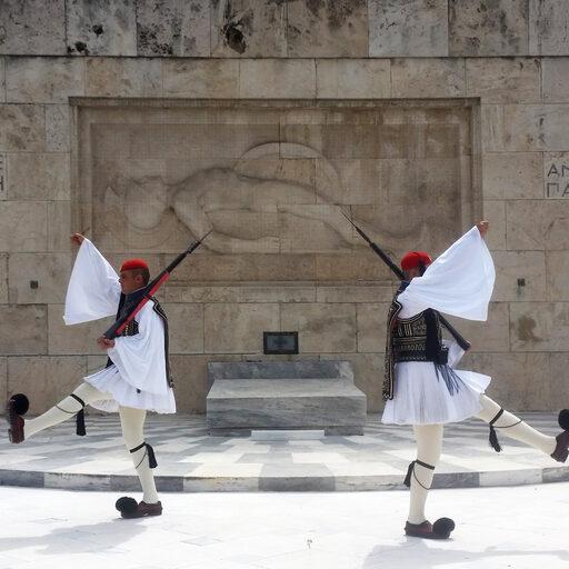 Акрополь и смена почетного караула Эвзонов