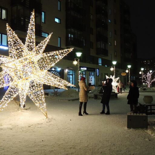Новогоднее настроение в Красноярске. Часть 3