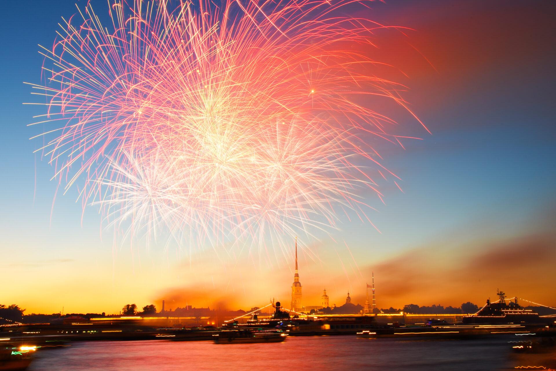 День Военно-Морского Флота. Праздничный Салют.