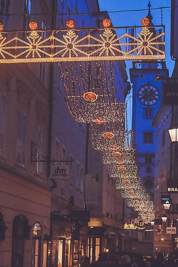 Цветной вечерний Зальцбург